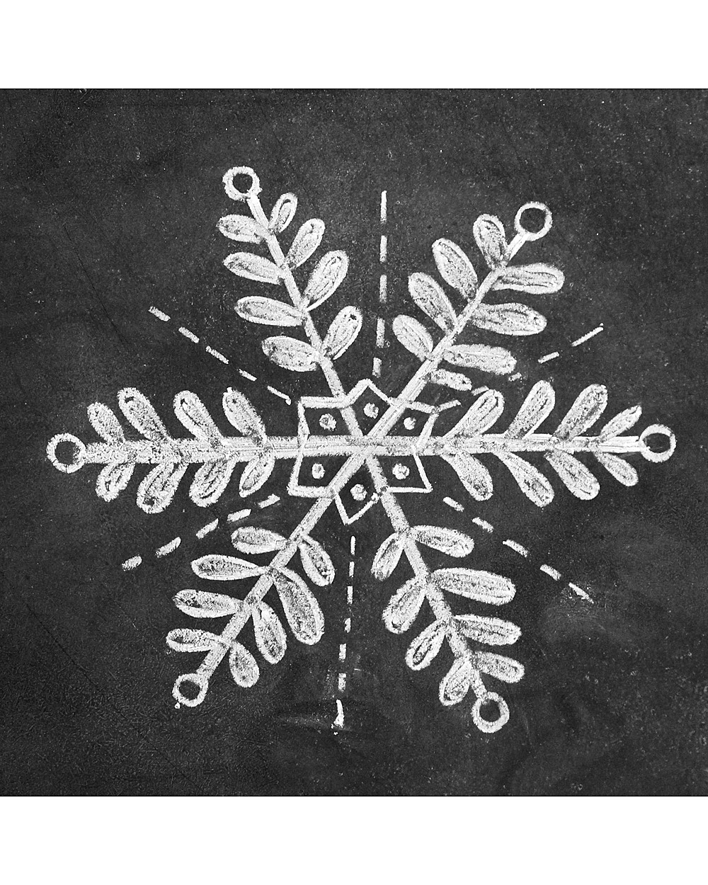 snowflake chalk art