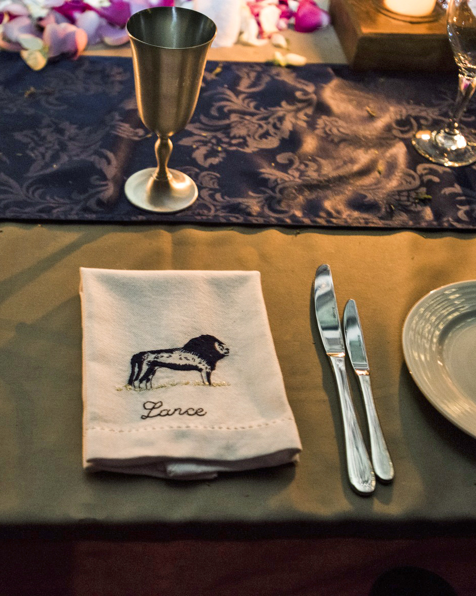 grant lance wedding africa placesetting
