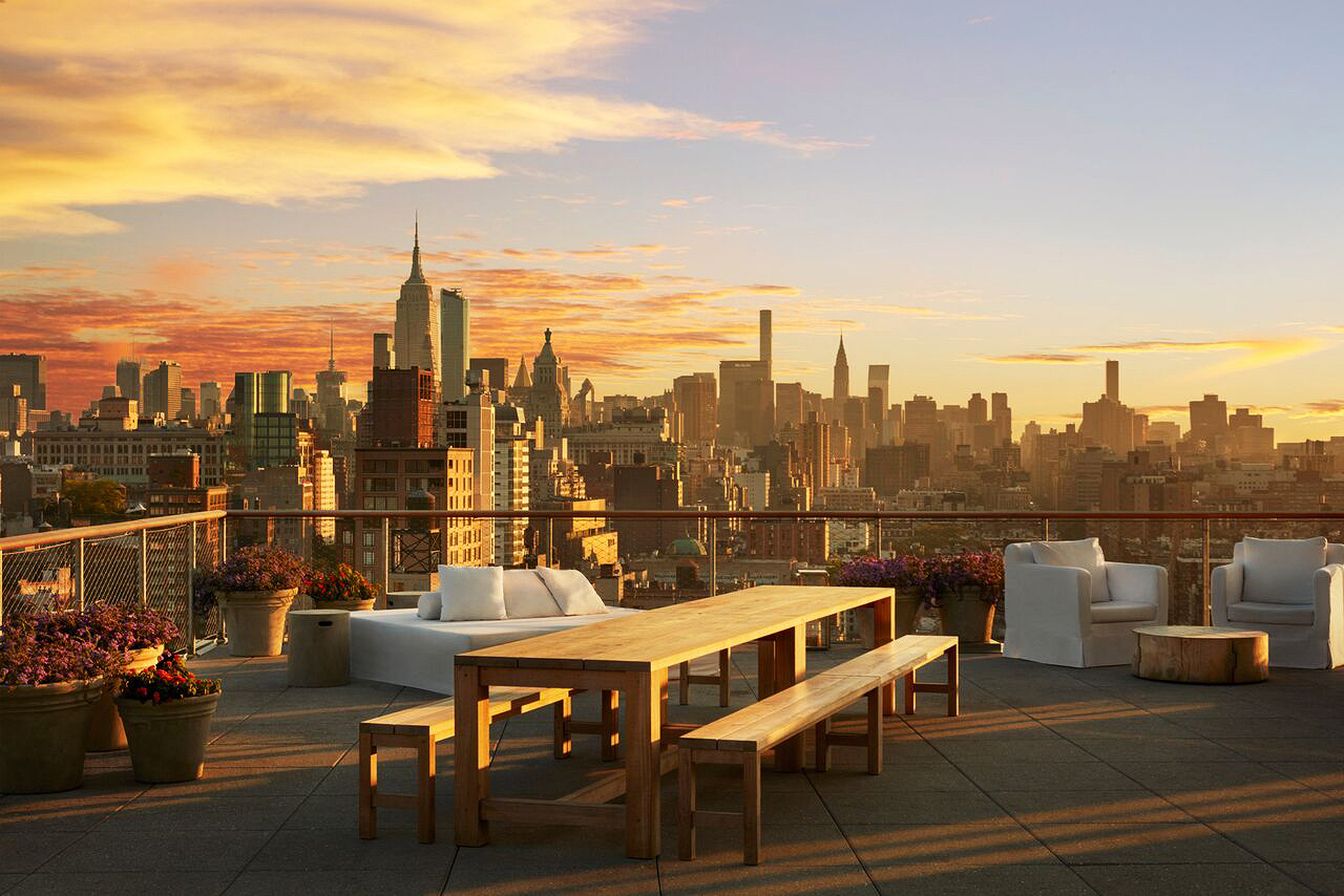 the public rooftop lounge