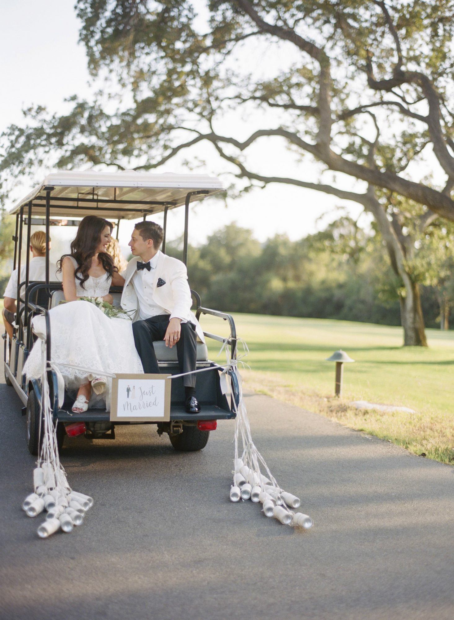 cassandra ben wedding california couple cart