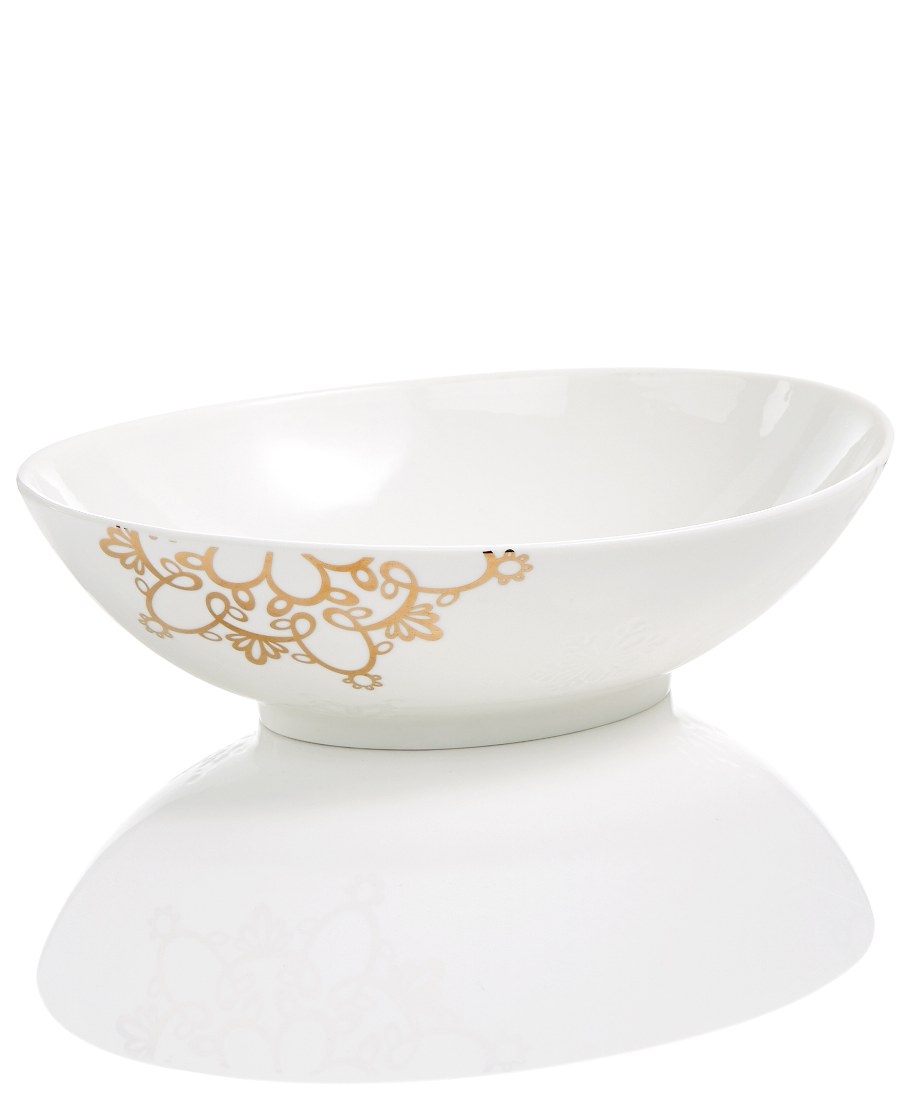 embossed serving bowl
