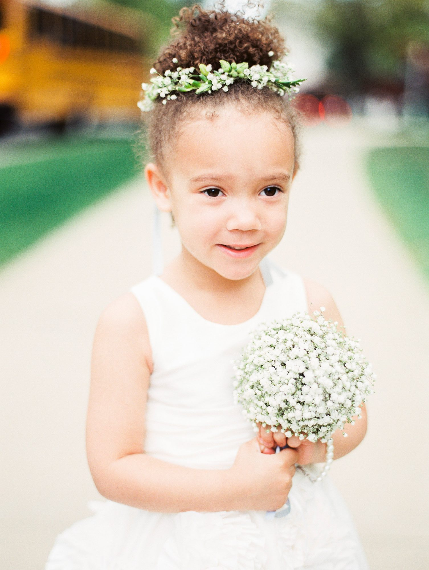 Flower Girl Hair Natural Hair in Bun