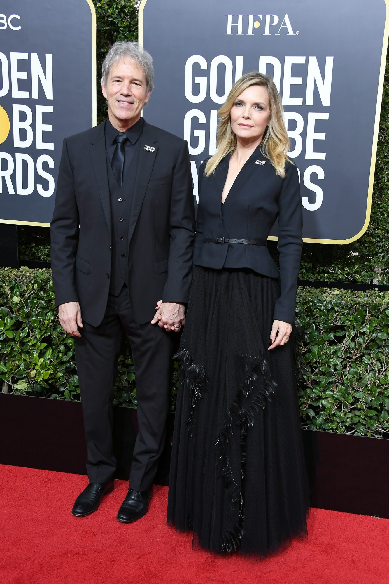 Michelle Pfeiffer and David E Kelley 2018 Golden Globes