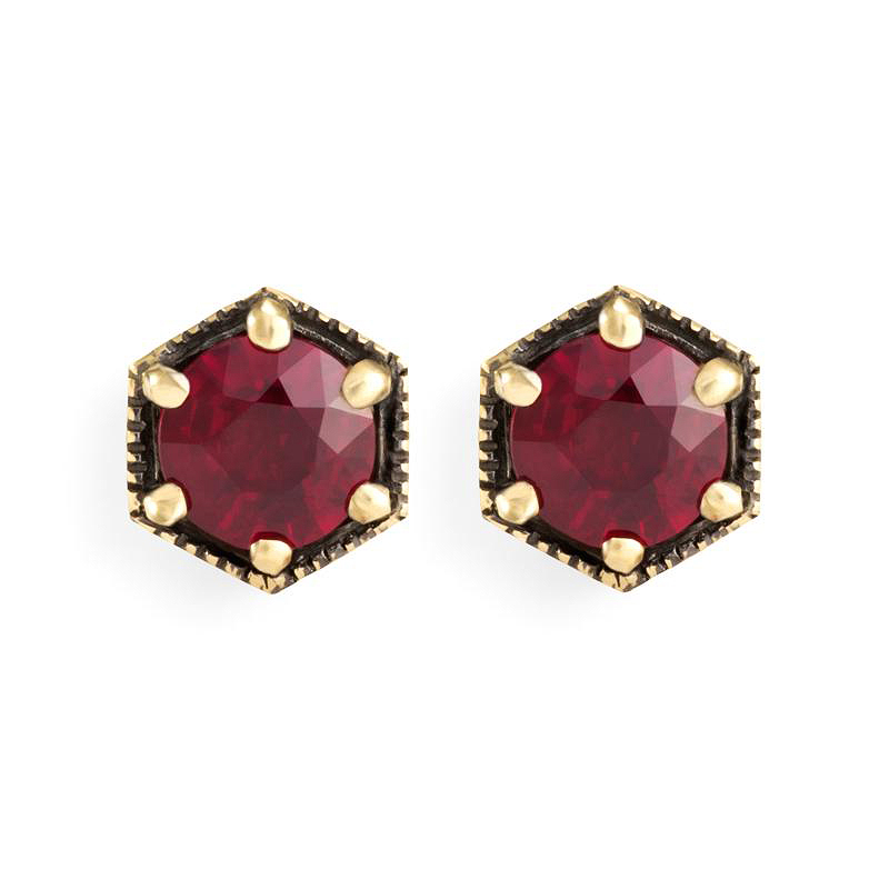 red rubby earrings