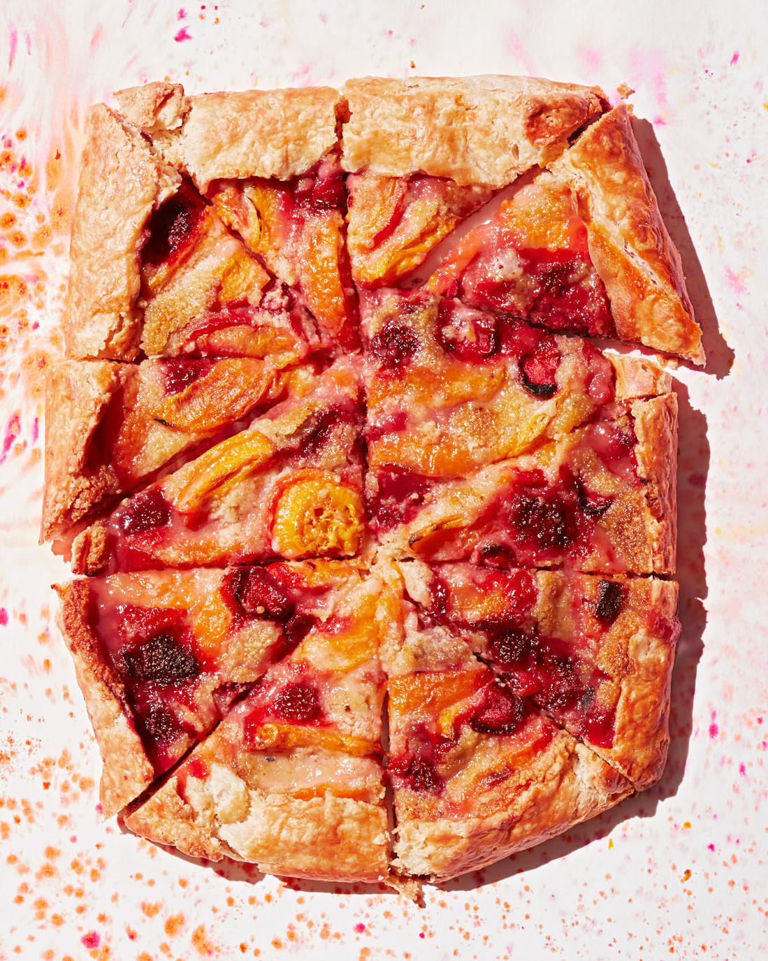 apricot and strawberry galette