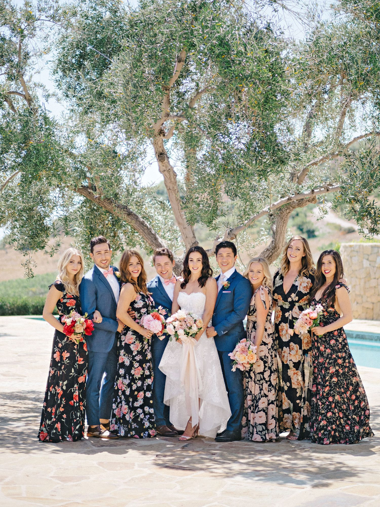 perri phillip wedding california bridal party