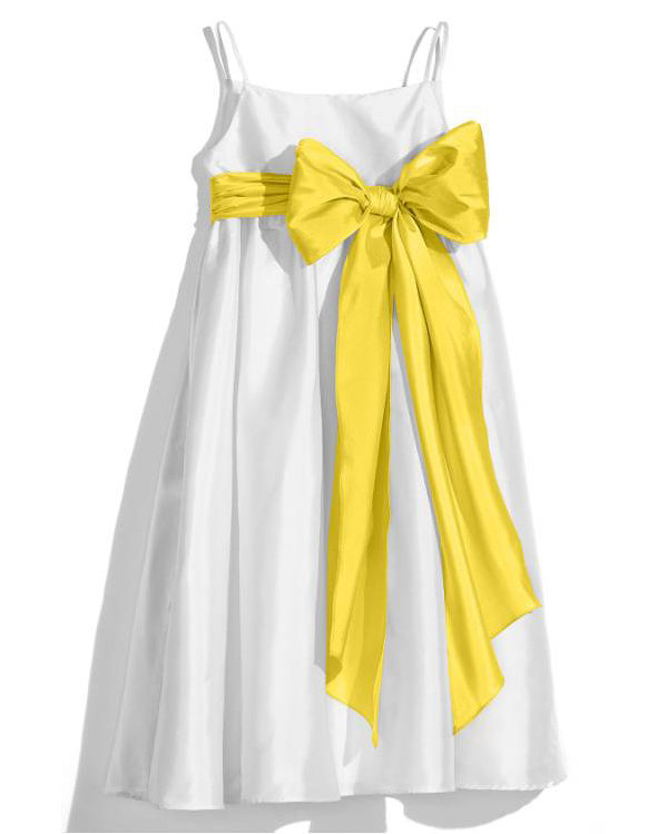 flower white yellow girl dresses and