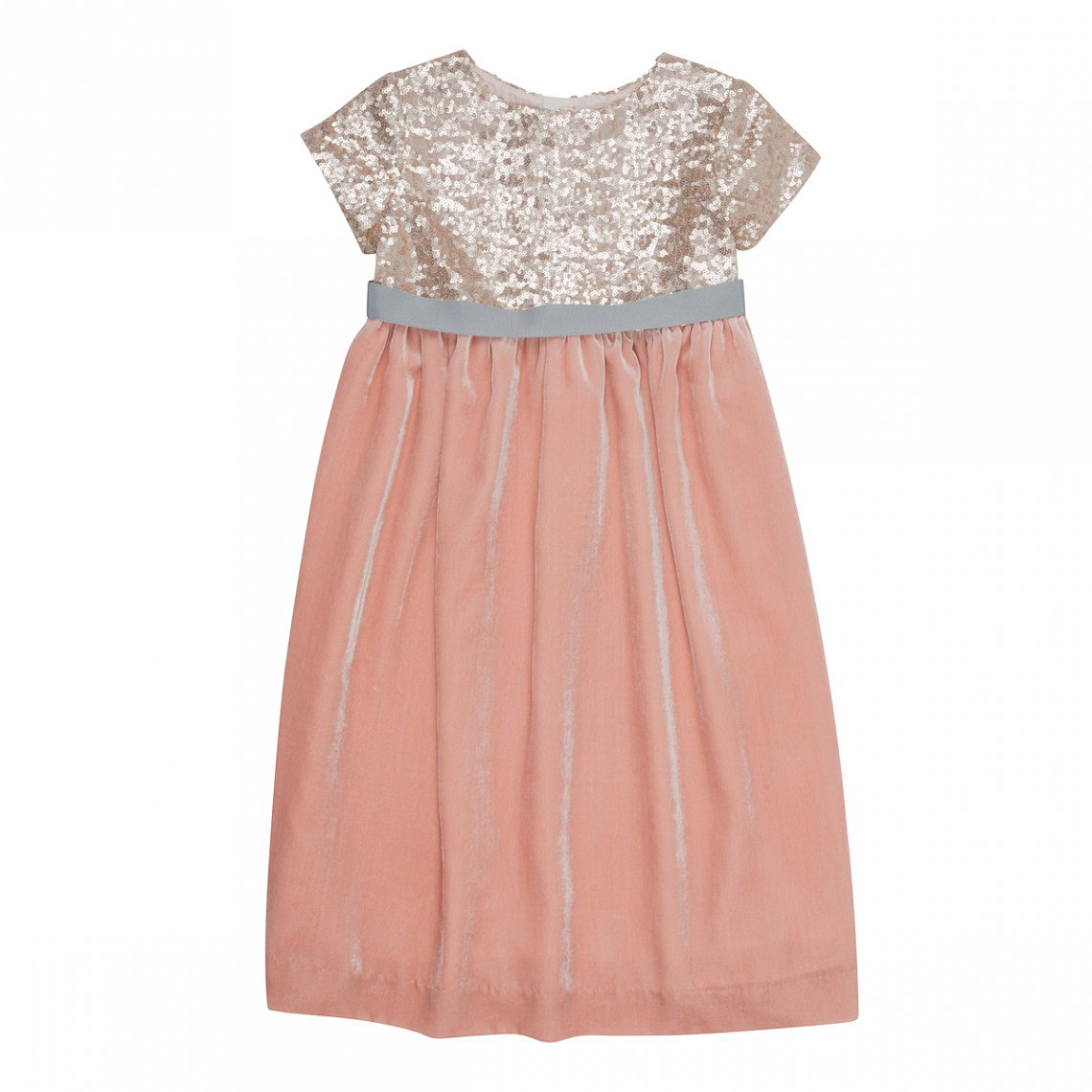 sparkly top pink flower girl dress