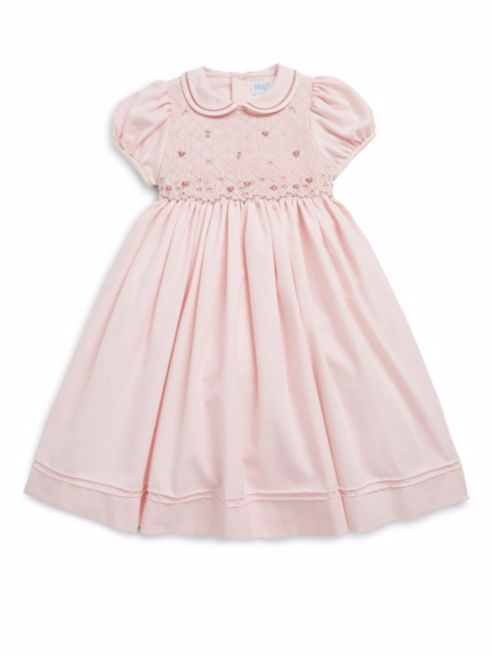 pale pink flower girl dress