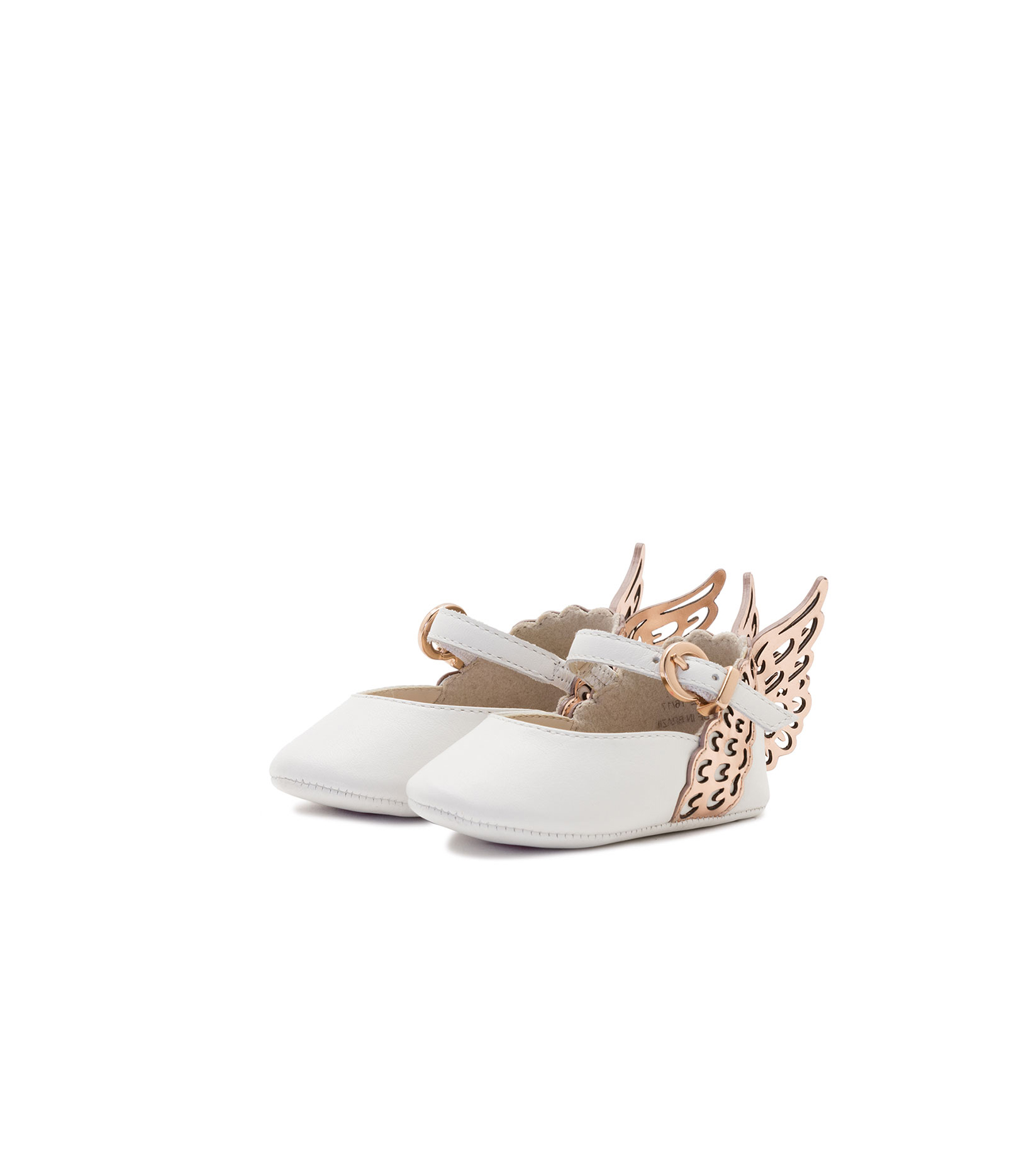 flower girl shoes leather butterfly wing flats