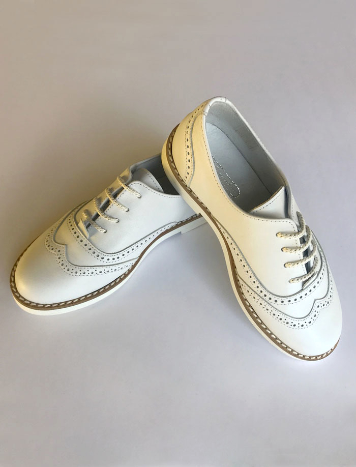 ring bearer shoes white leather wingtip shoes