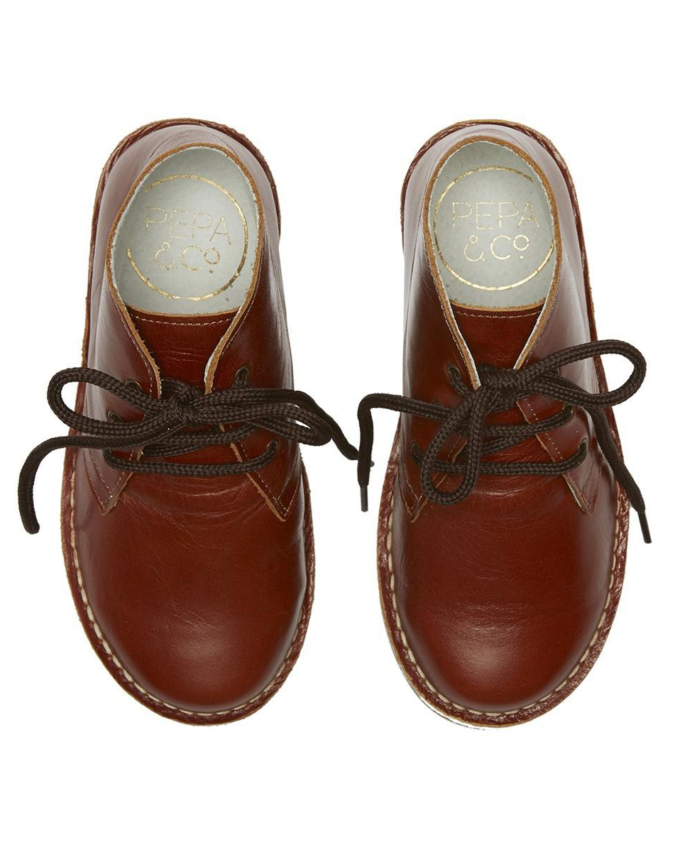 ring bearer shoes brown leather desert boots with laces