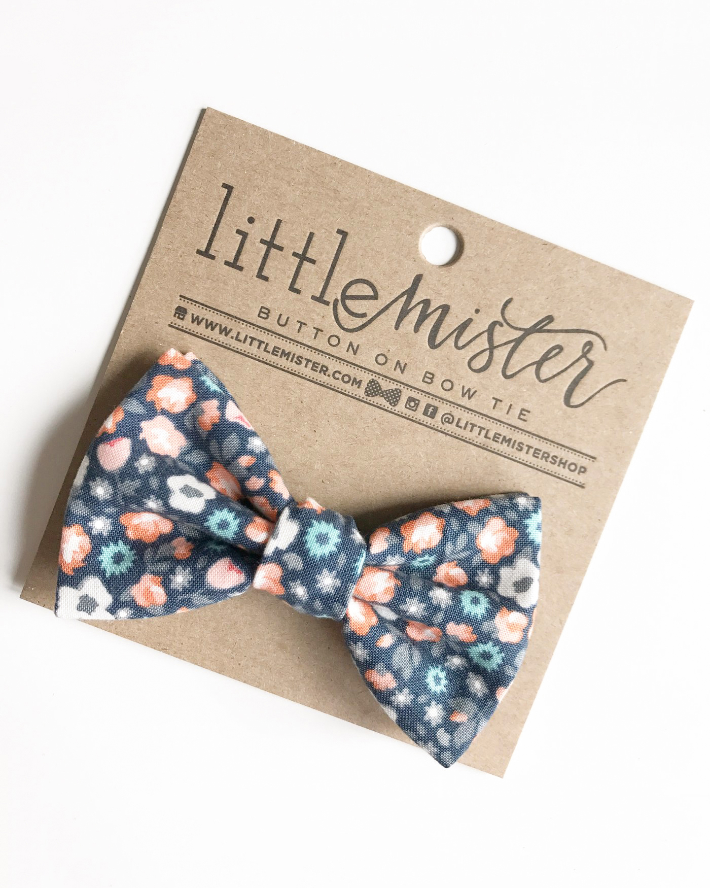 ring bearer fall floral bow tie