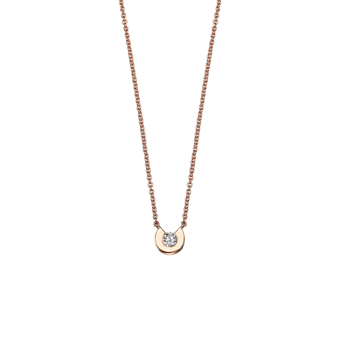 delicate gold cherut pendant necklace