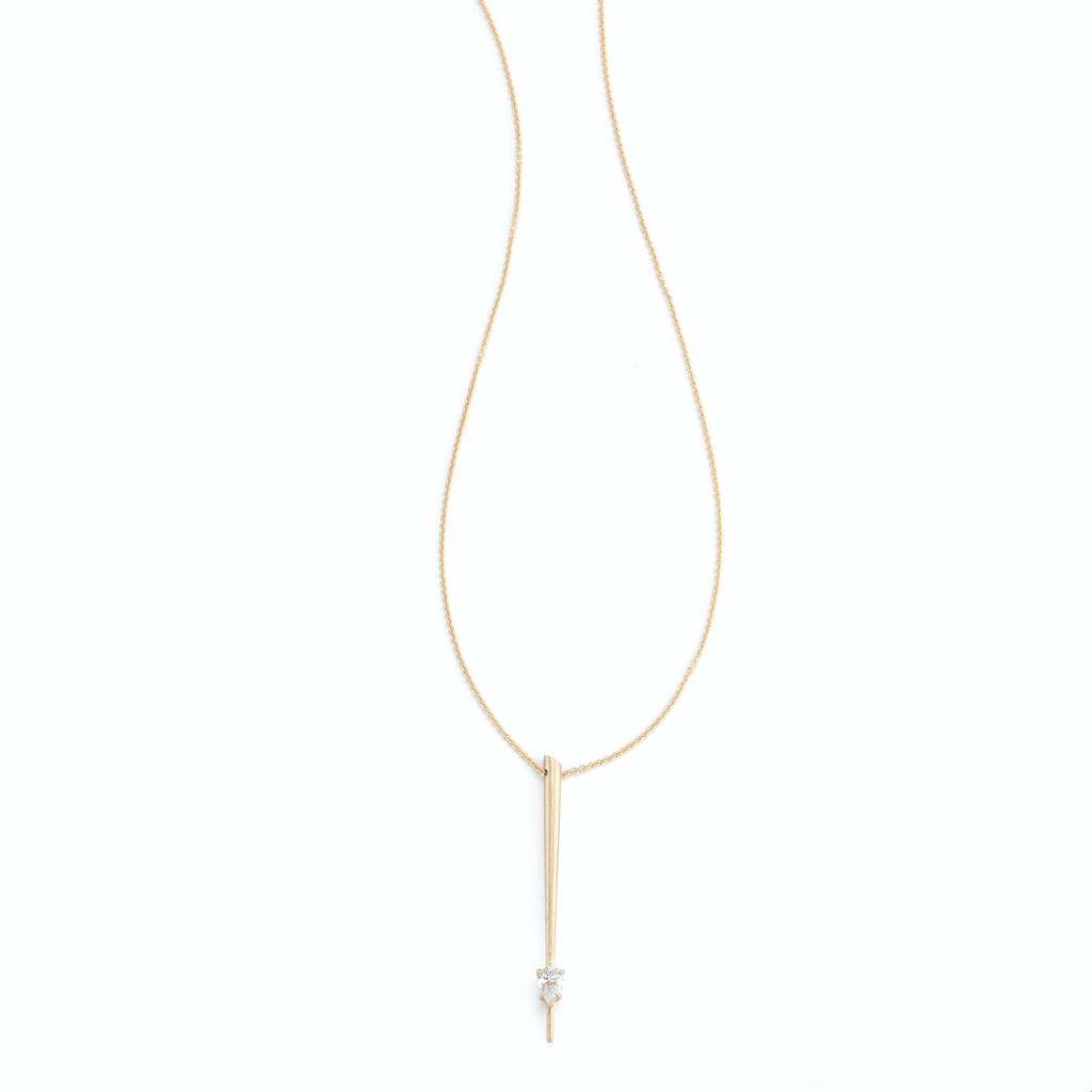 delicate gold necklace  pendant Jade Trau