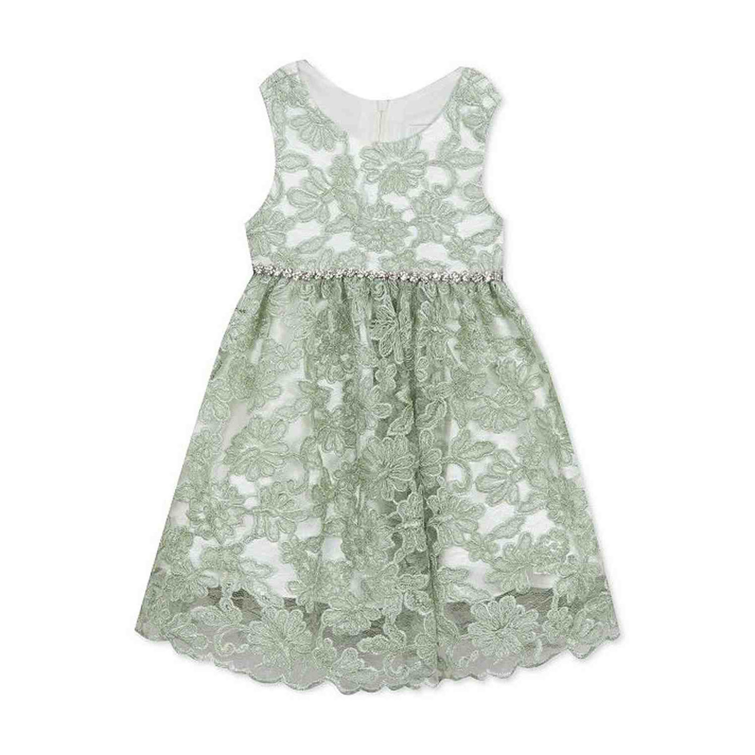 Rare Editions Embroidered Lace Dress