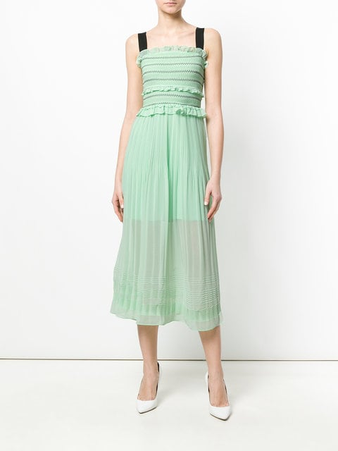 mint green midi engagement party dress