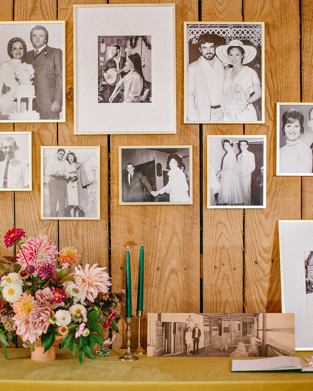 Black-and-White Photo Wall