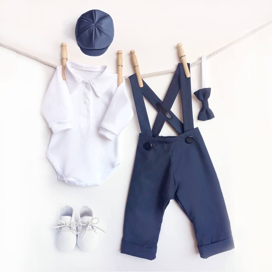 Five-Piece Navy Blue Outfit