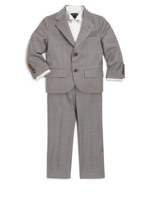 Two-Piece Wool Twill Suit