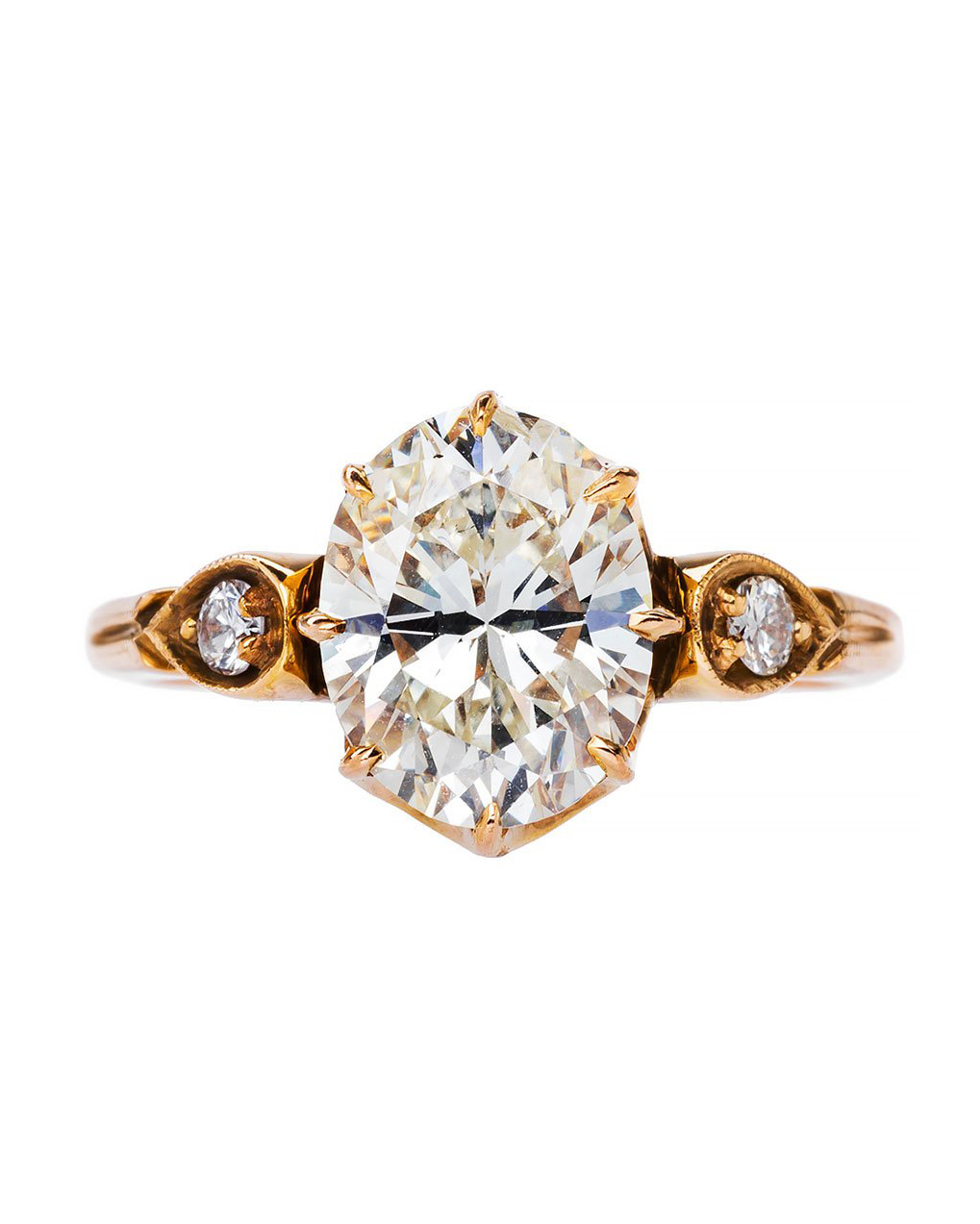 gold and diamond engagement ring