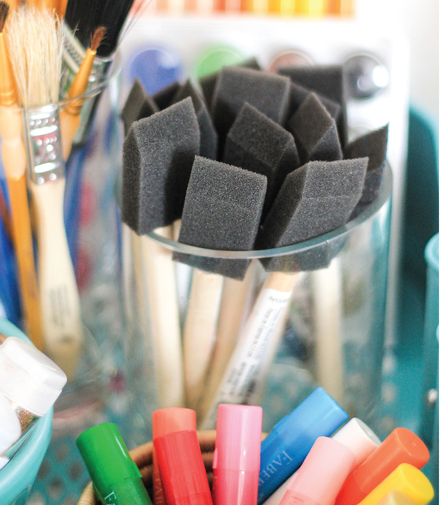 paint brushes and markers