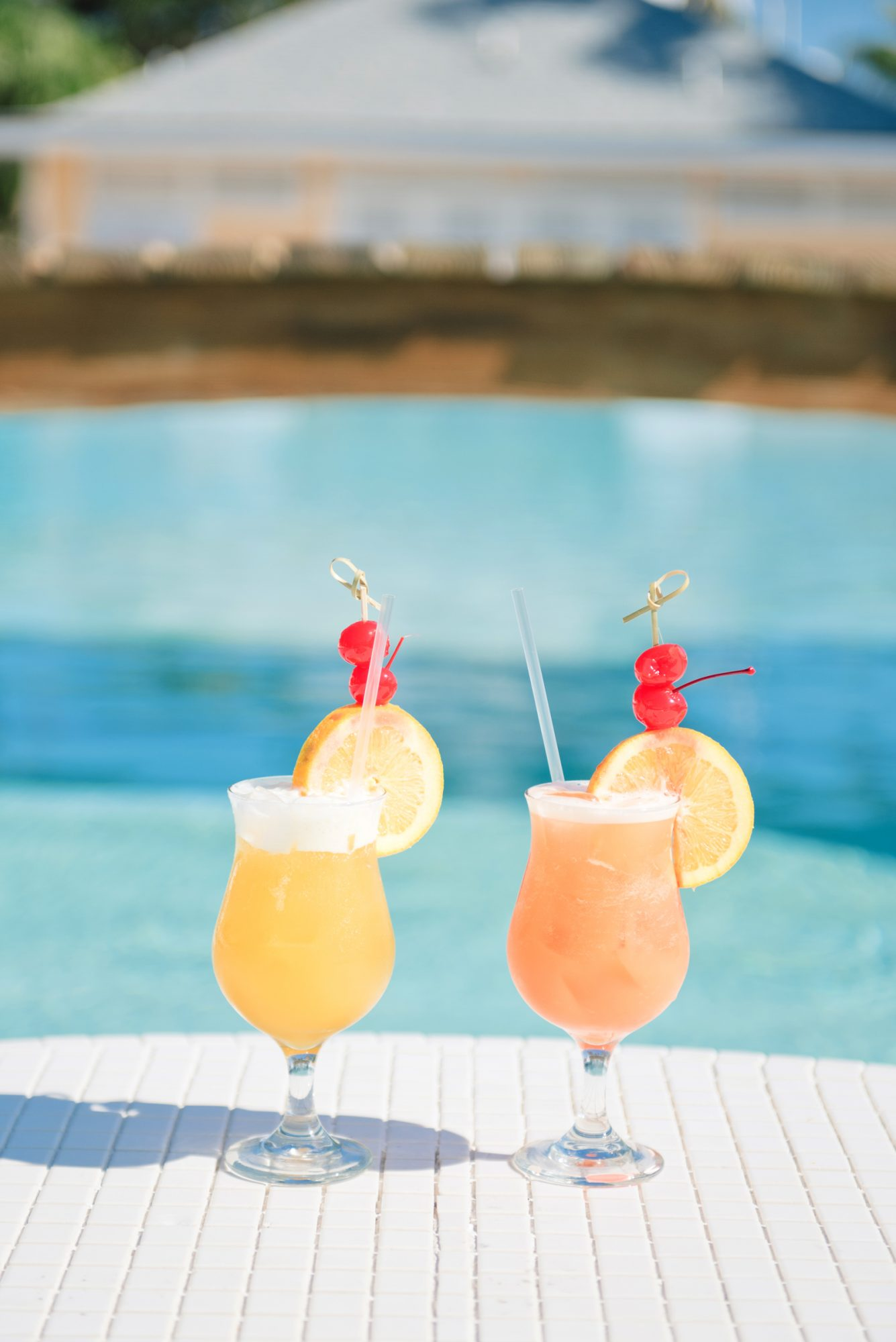 orange and lemon slushy cocktails