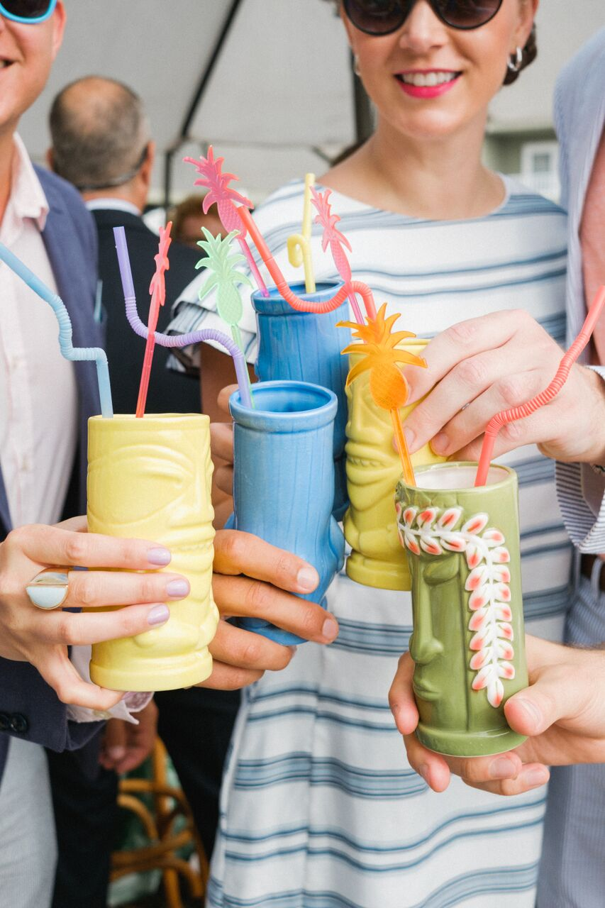 tiki wedding drinks