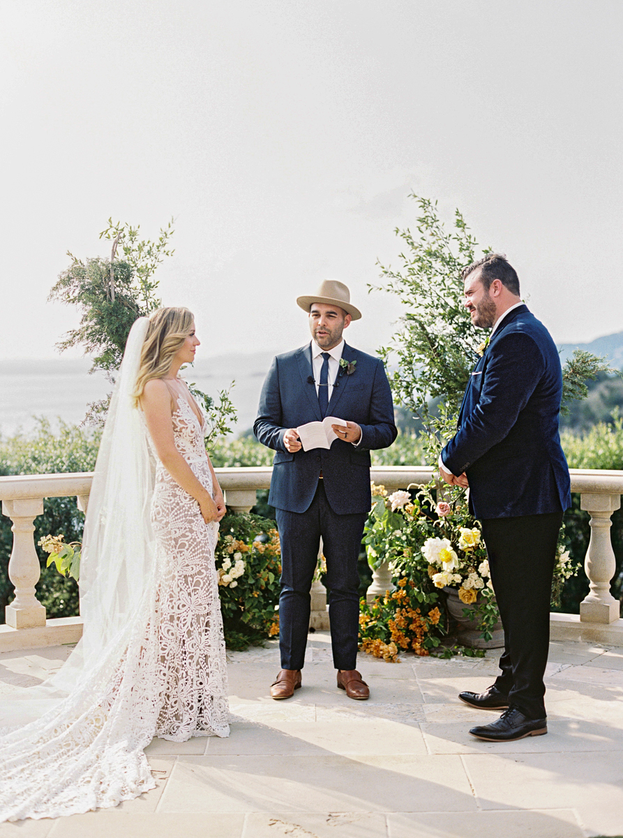 charla jesse wedding ceremony with officiant