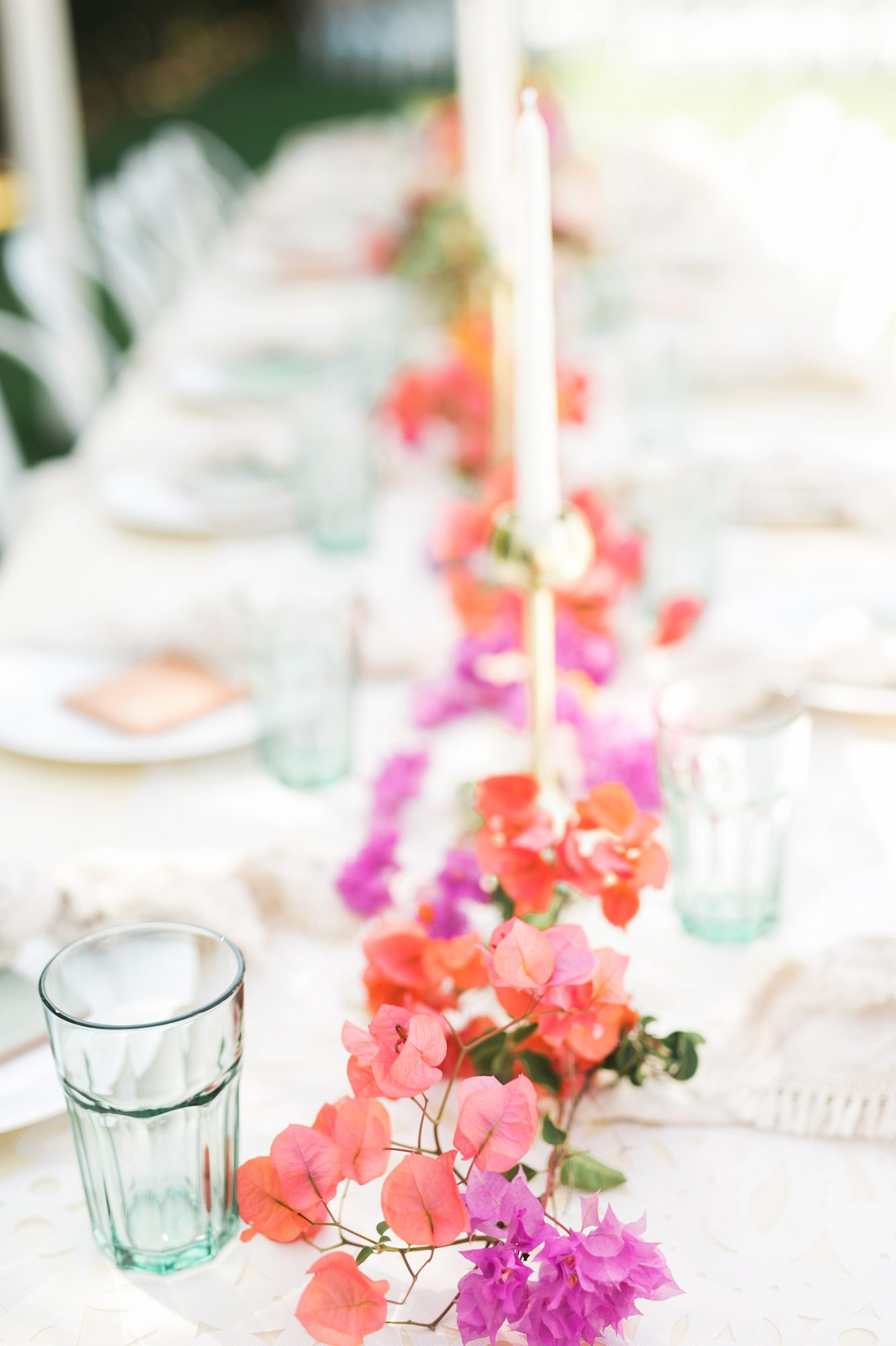 bright spring centerpiece