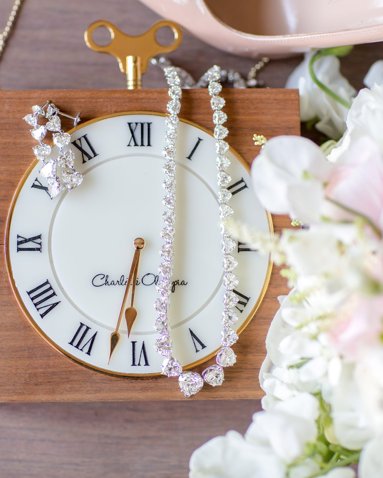 wedding jewelry clock