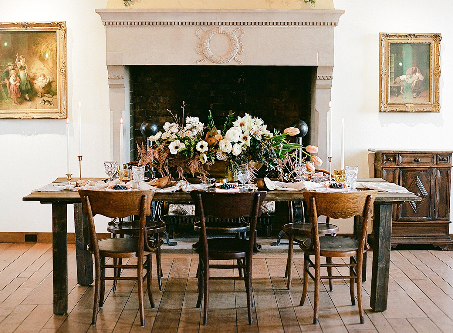 europe style tablescape