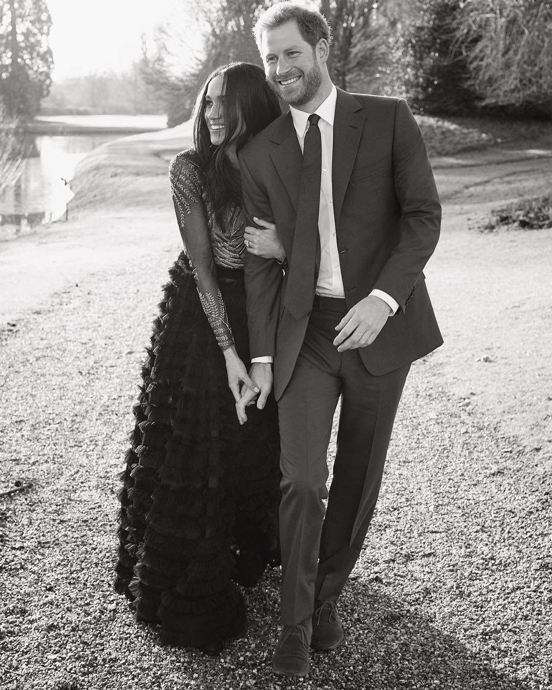 Meghan Markle and Prince Harry Candid Engagement Photo