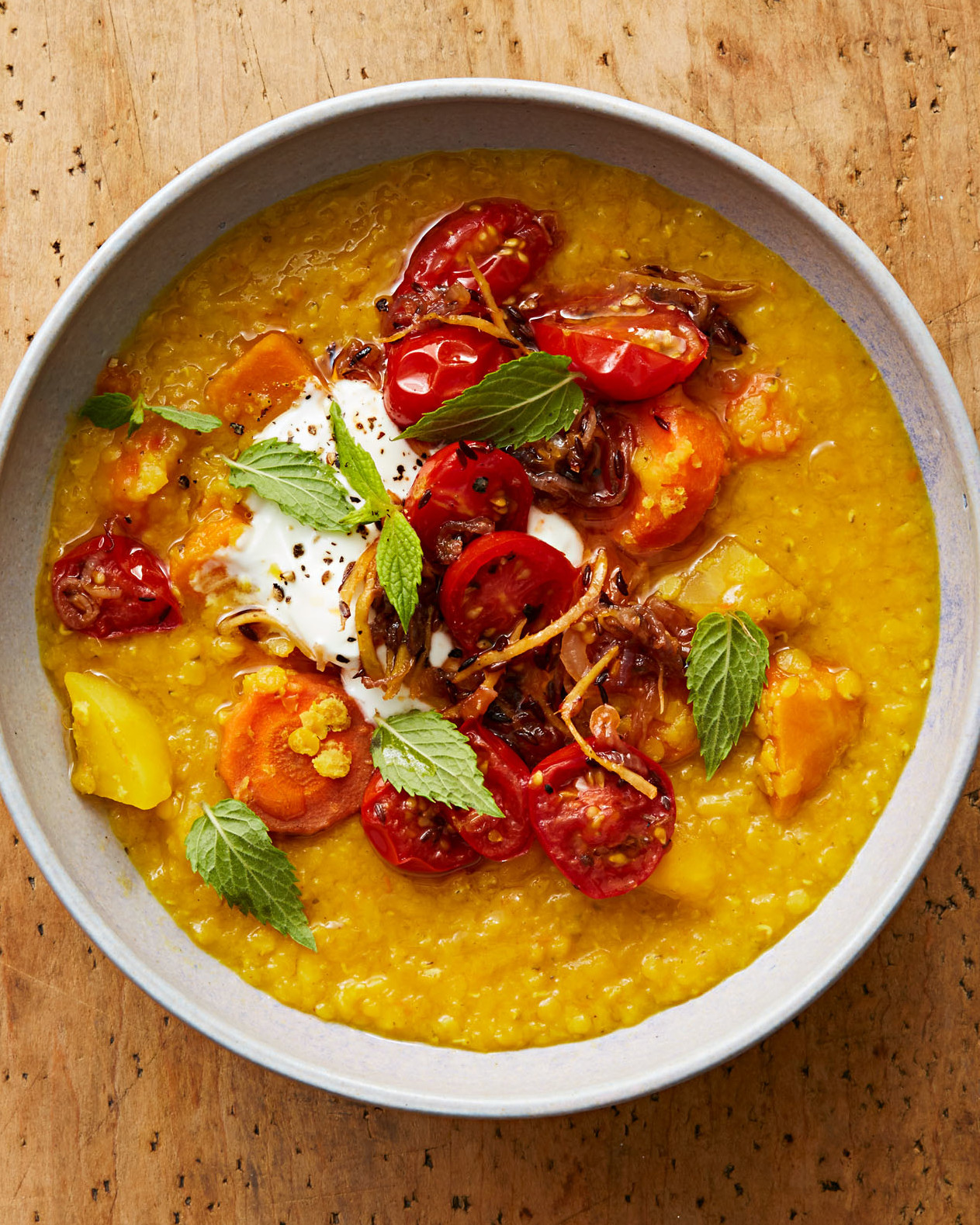 golden dal gingered tomatoes