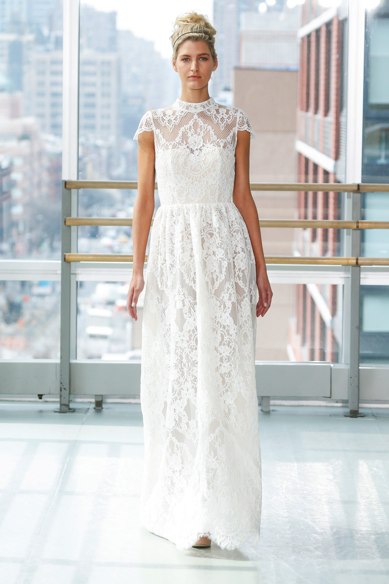 gracy accad wedding dress spring 2019 lace short sleeves
