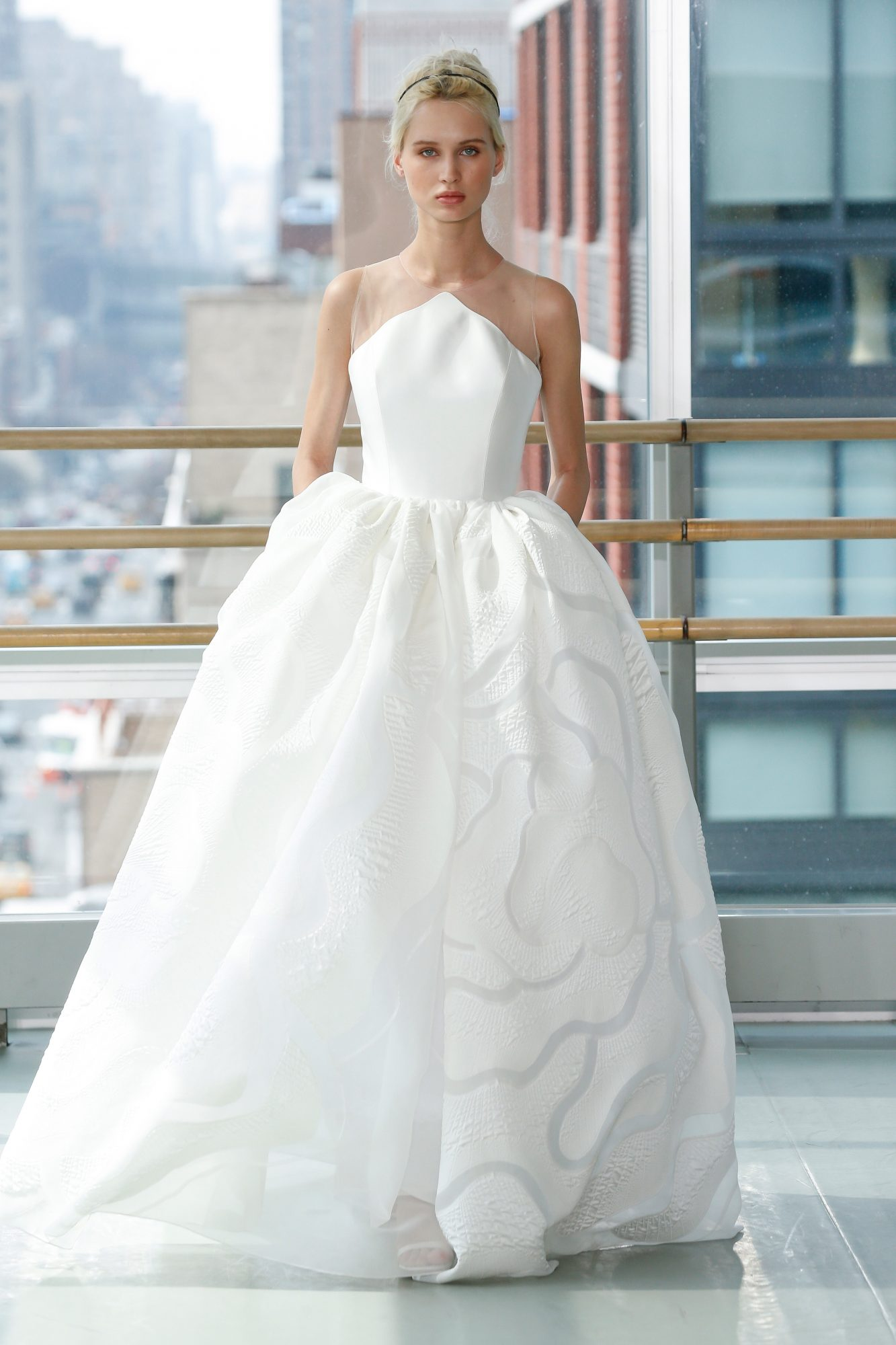 gracy accad wedding dress spring 2019 ball gown illusion sleeveless
