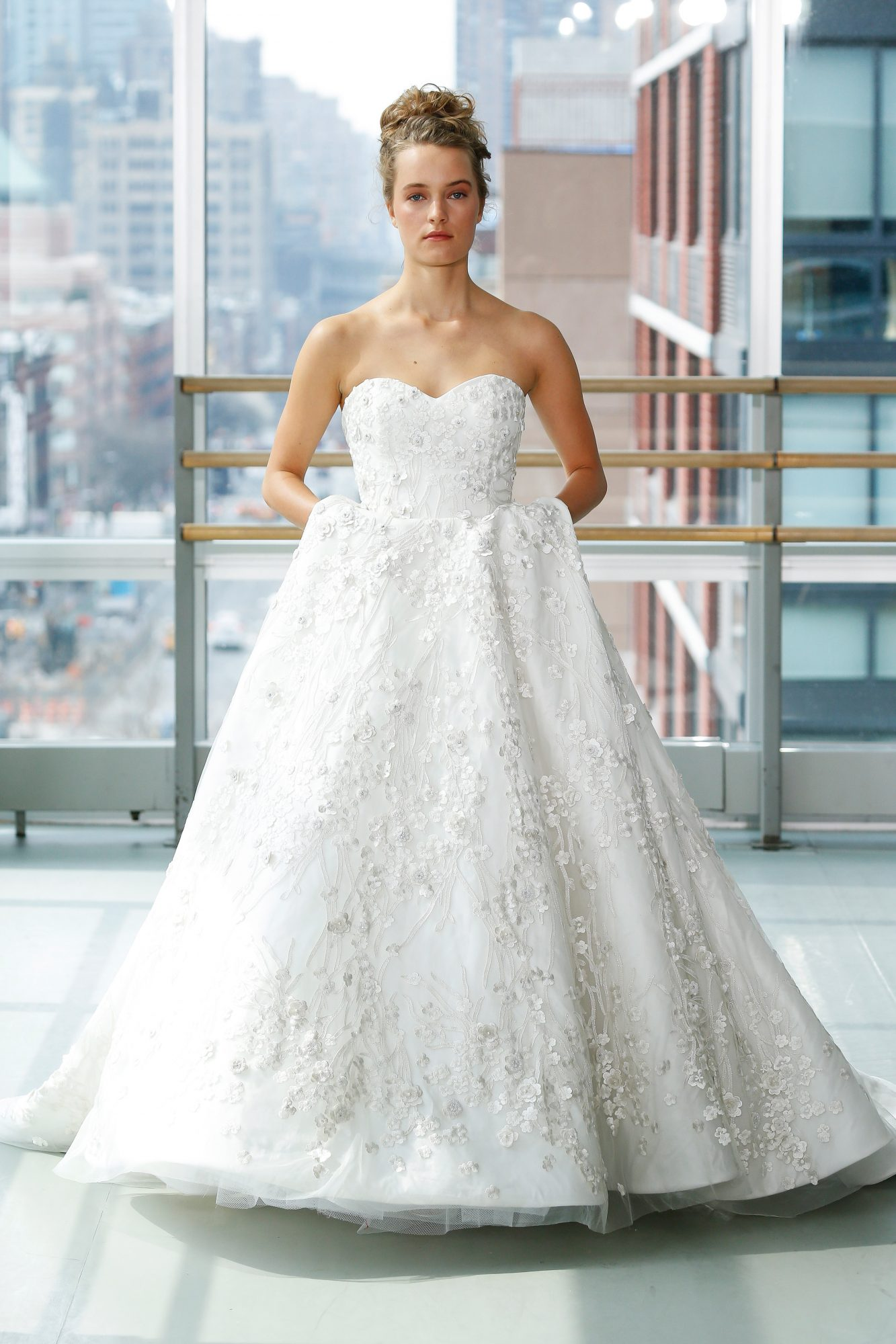 gracy accad wedding dress spring 2019 ball gown beaded sweet heart