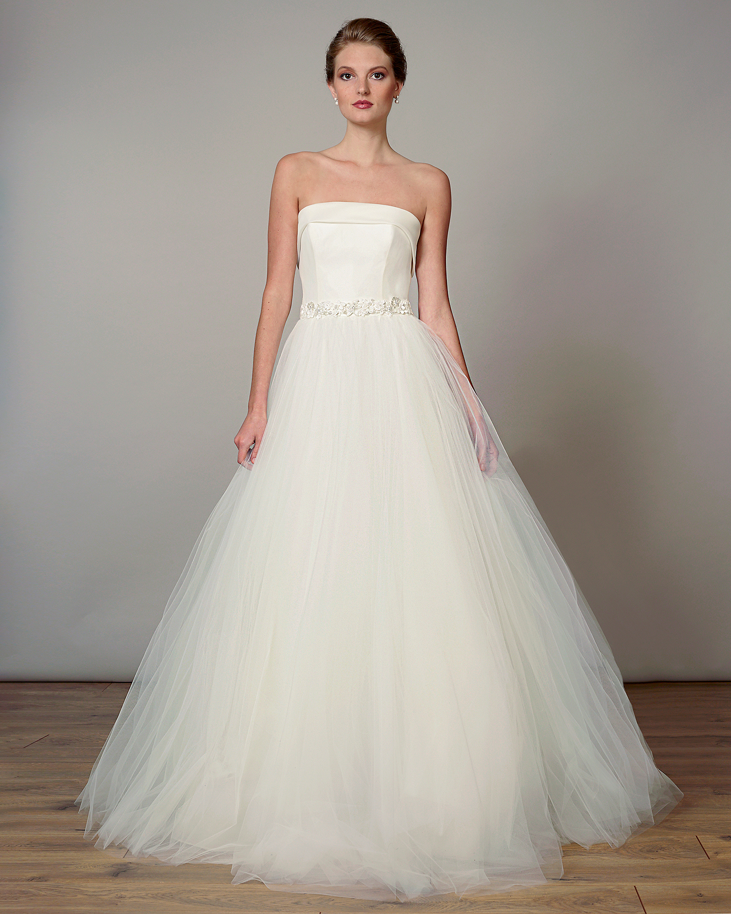 liancarlo wedding dress spring 2019 strapless belted ball gown