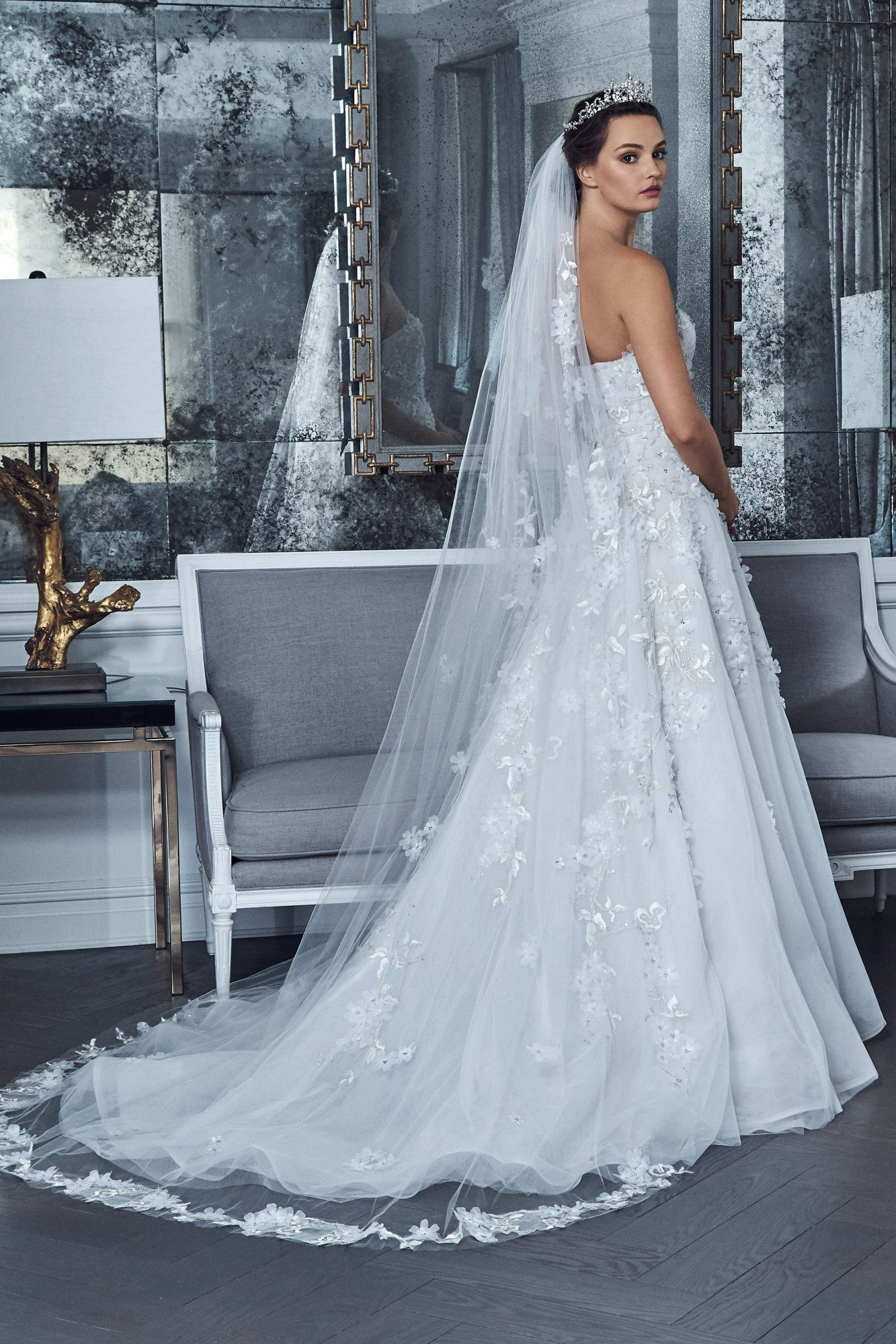 romona keveza collection wedding dress spring 2019 strapless a-line