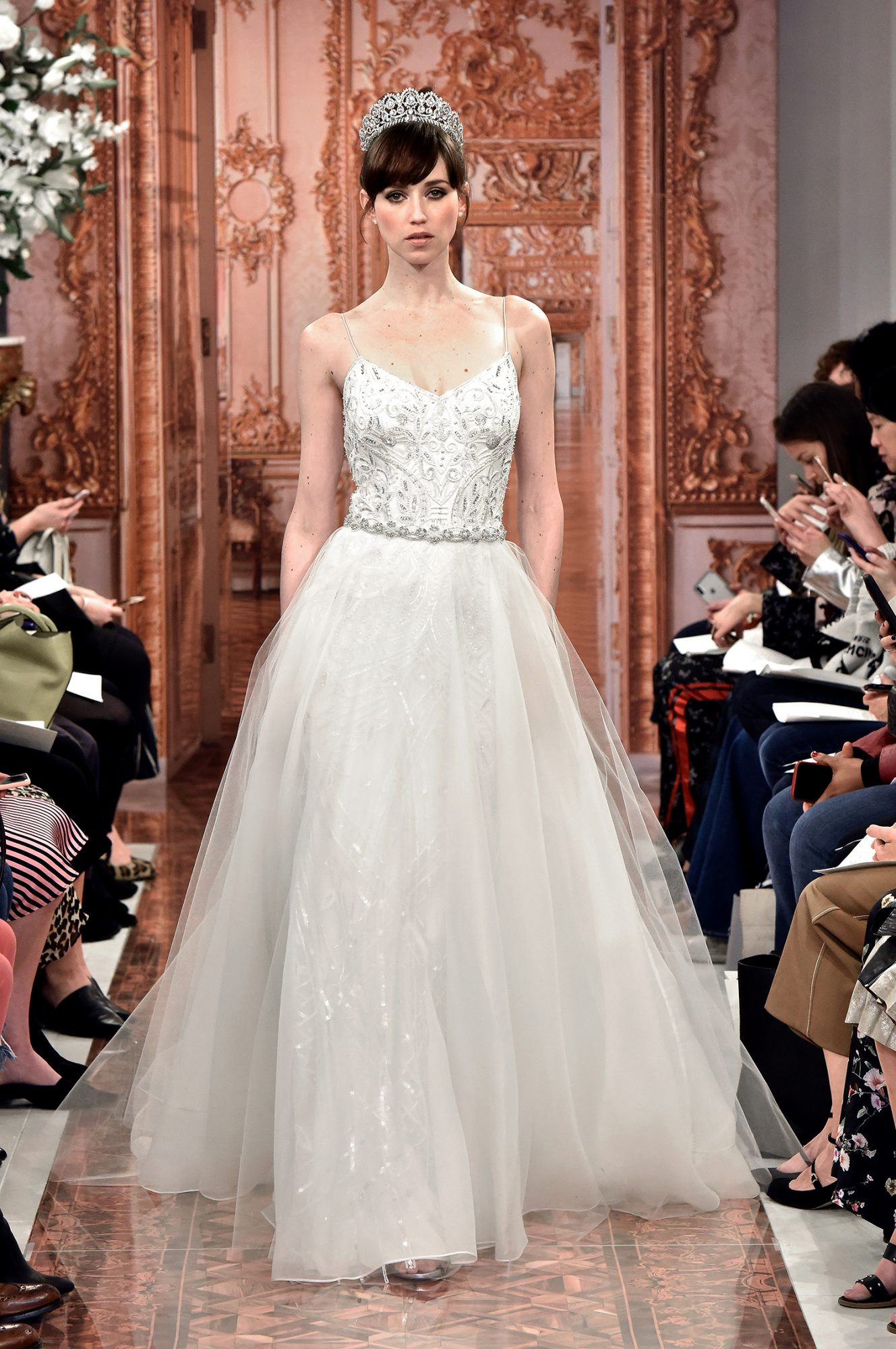 theia wedding dress spring 2019 spaghetti strap ball gown
