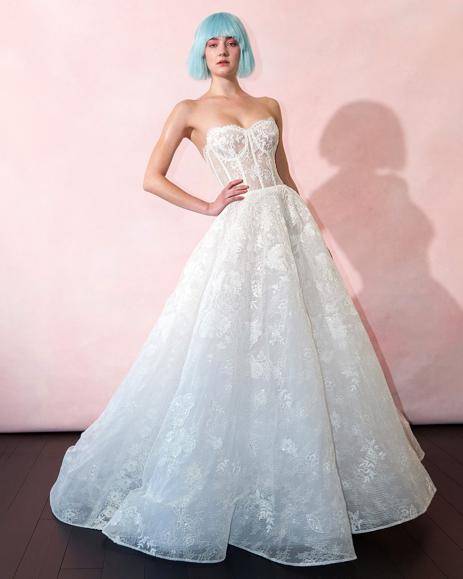 isabelle armstrong wedding dress spring 2019 corseted bodice lace detail