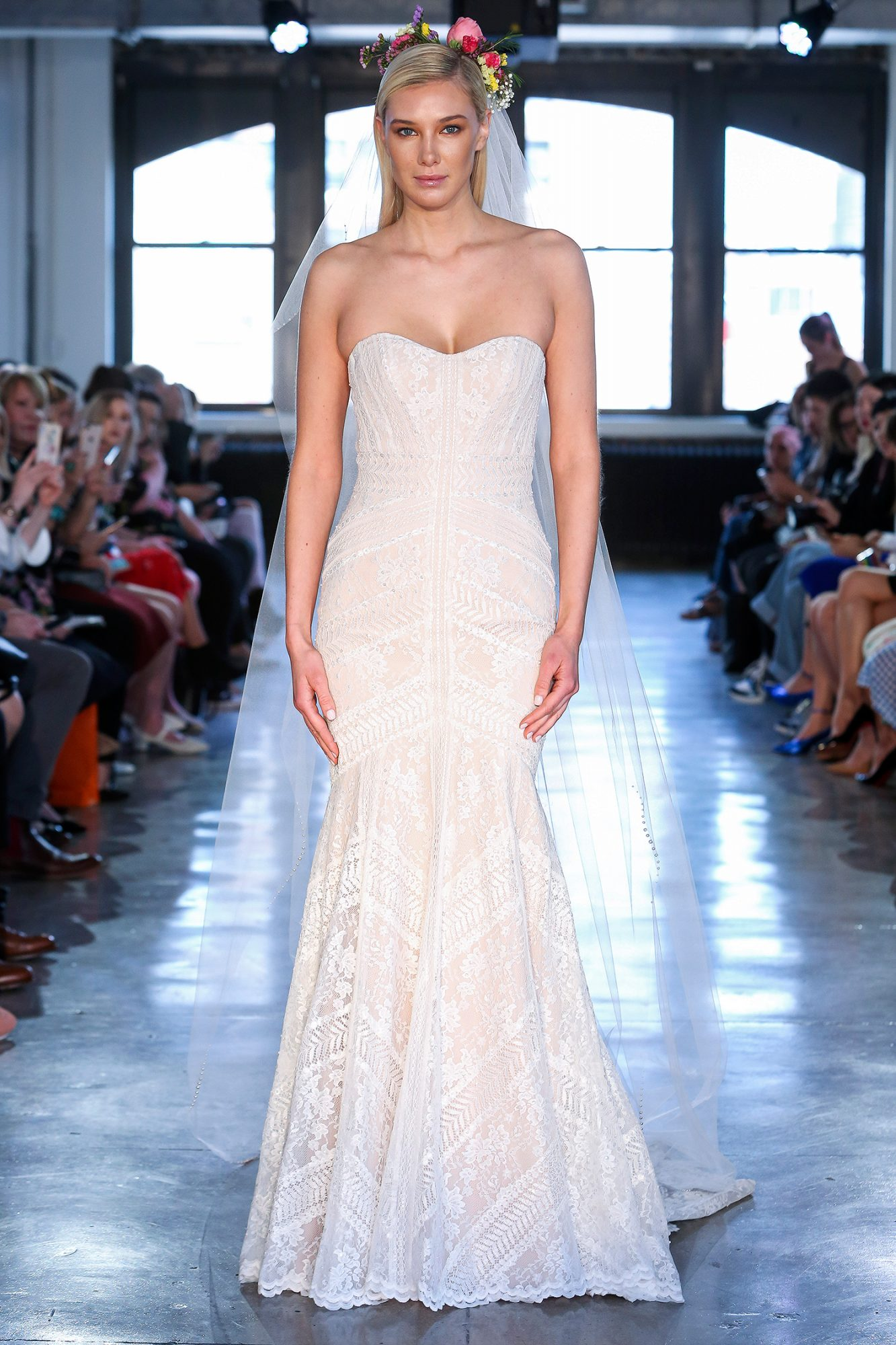 wtoo watters wedding dress spring 2019 strapless lace trumpet