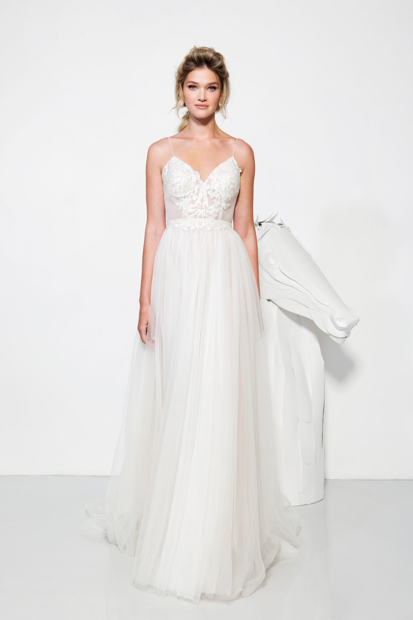 lavish by yaniv persy wedding dress spring 2019 spaghetti straps a-line tulle