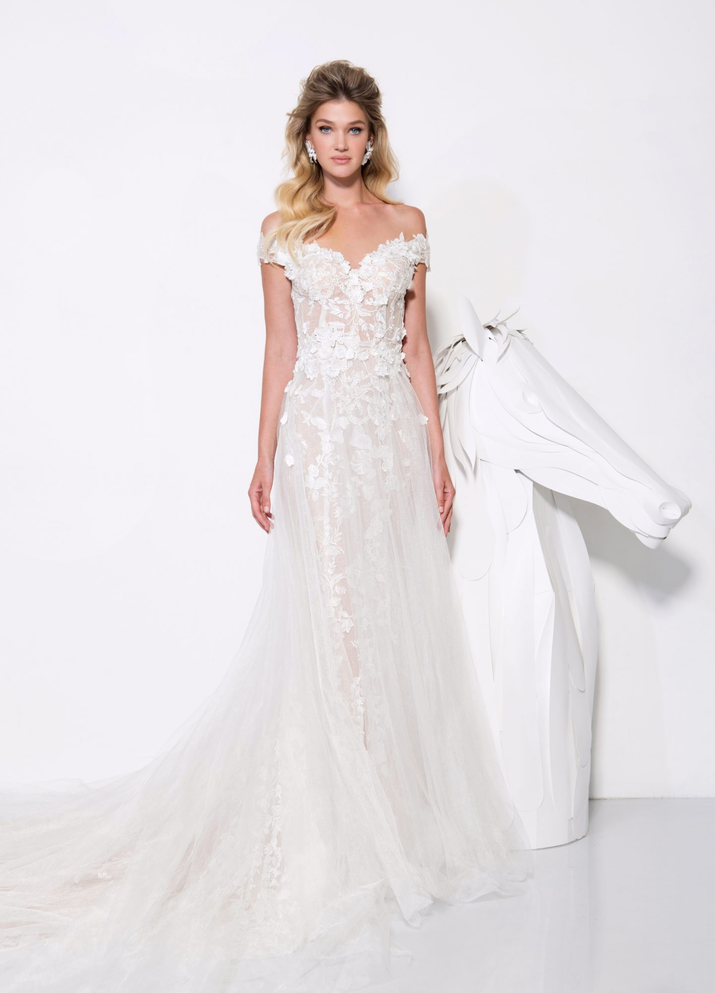 persy wedding dress spring 2019 sweetheart off the shoulder a-line gown