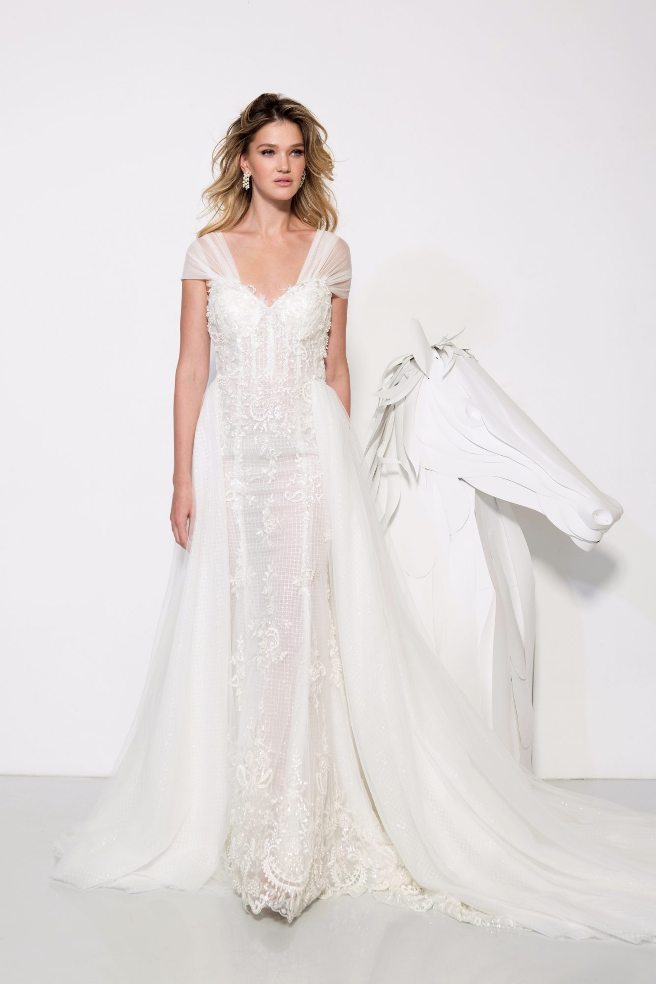 persy wedding dress spring 2019 lace a-line cap sleeve gown
