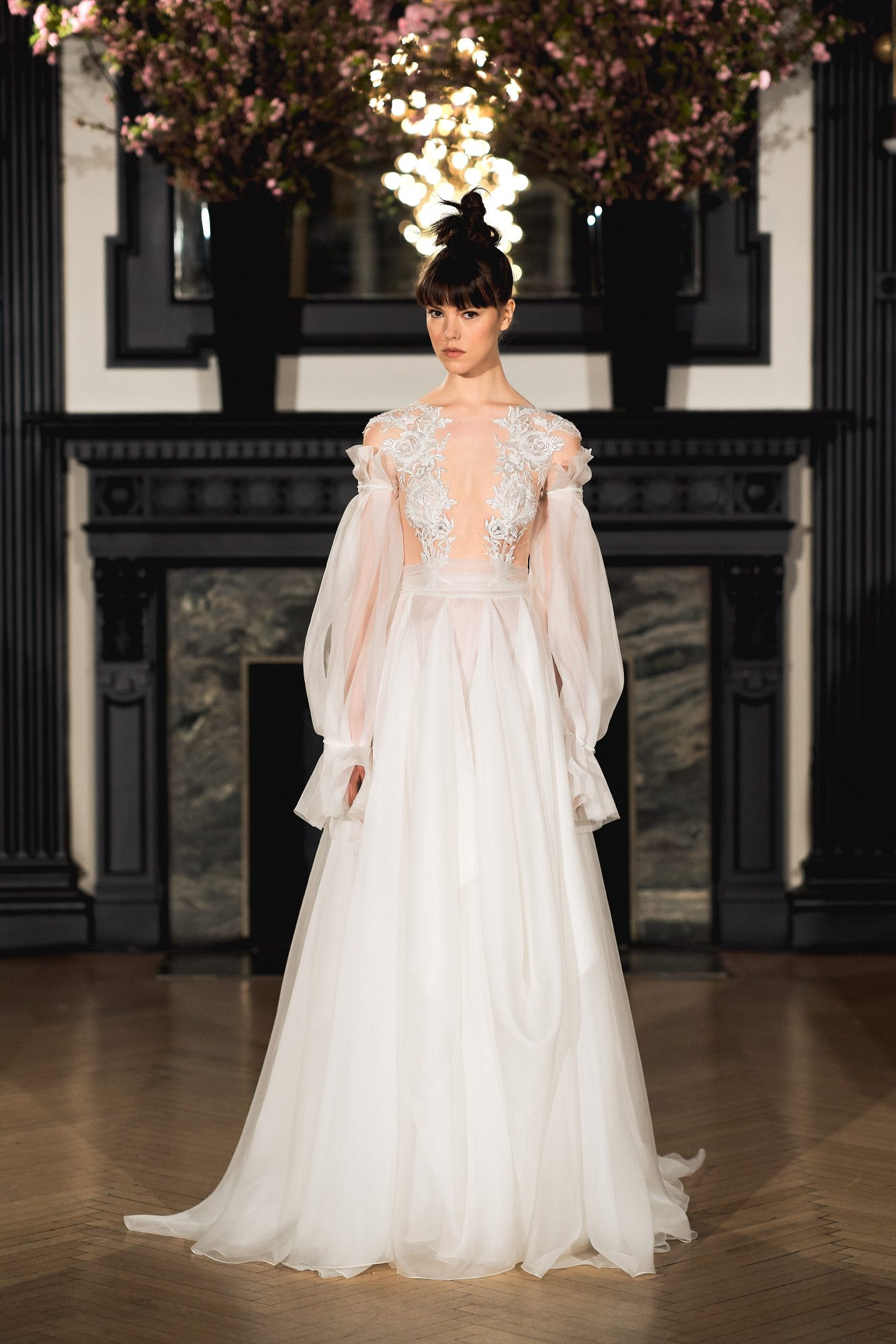 ines di santo wedding dress spring 2019 long sleeve illusion