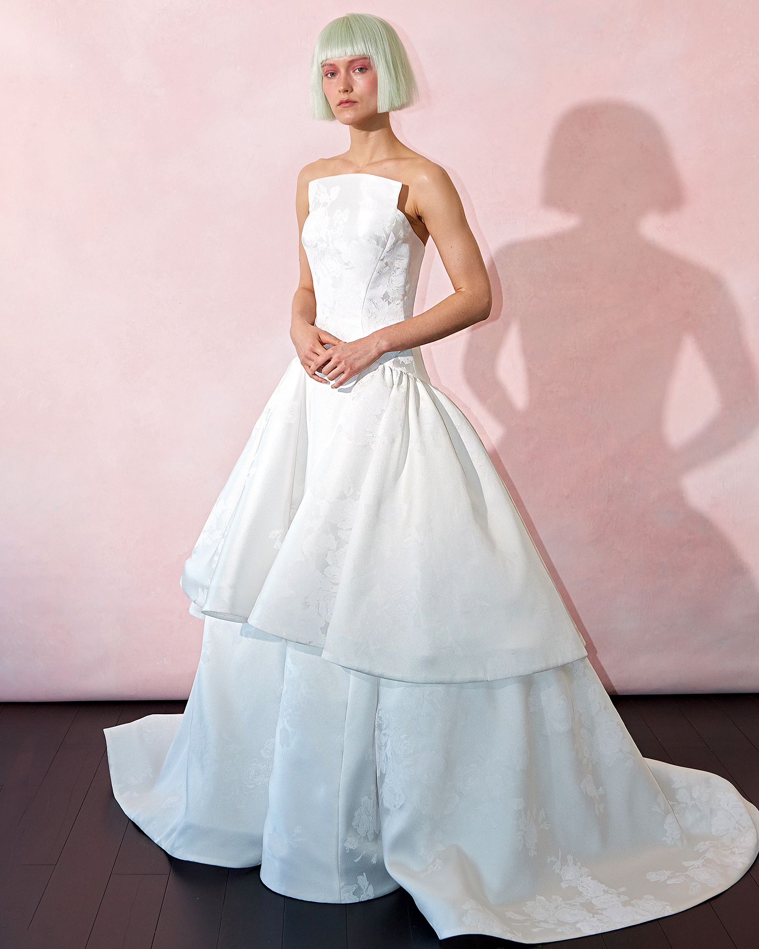 isabelle armstrong wedding dress spring 2019 tiered bodice neckline panel