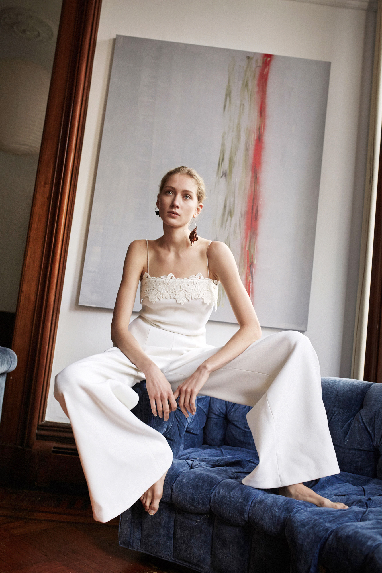 Lein wedding dress spring 2019 pants with spaghetti strap top