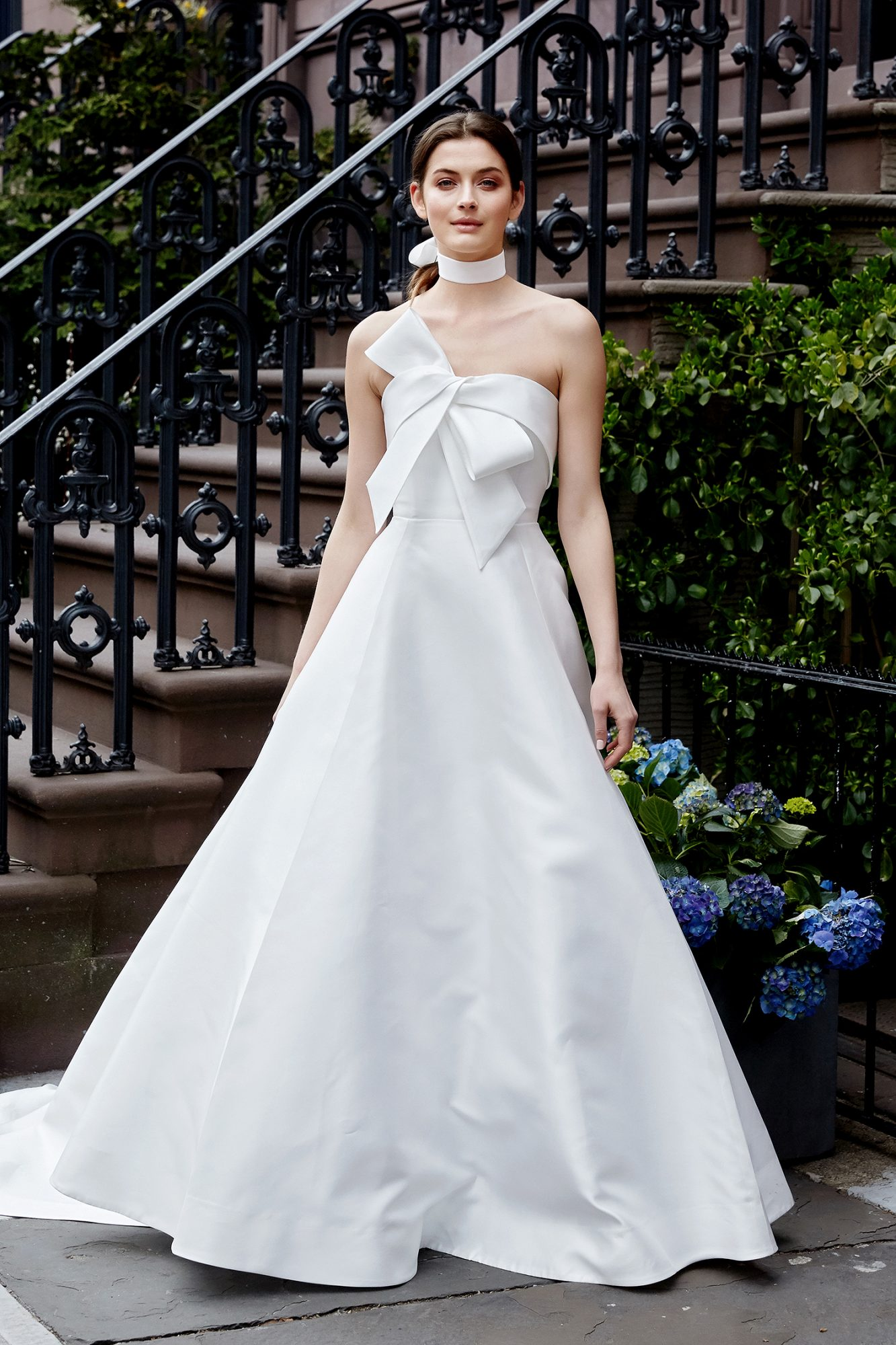 lela rose wedding dress spring 2019 strapless with front bow accent