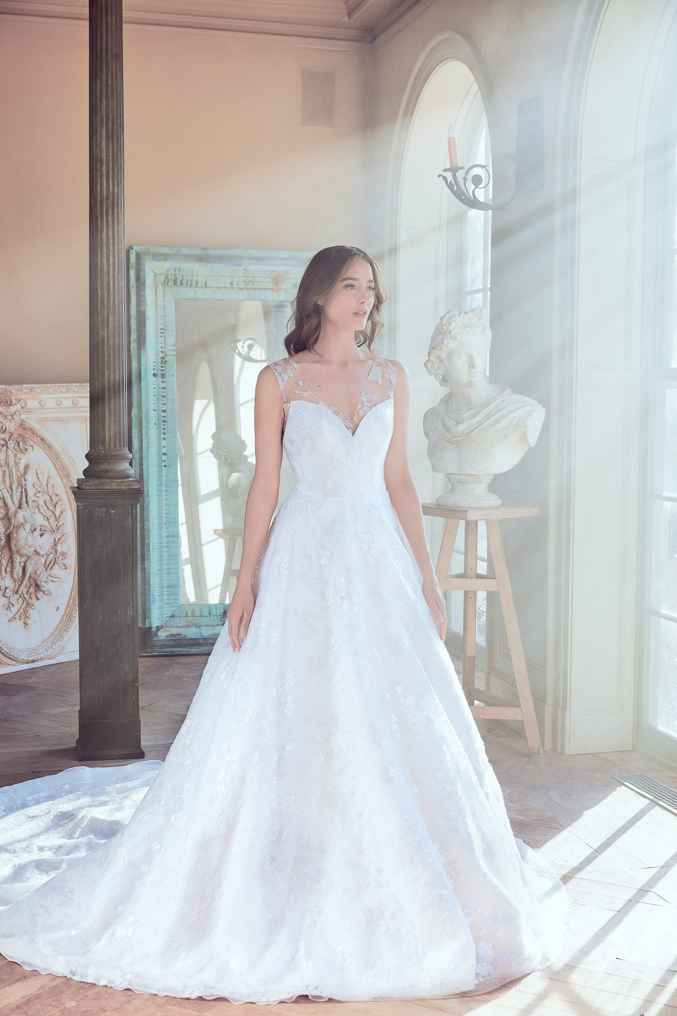 sareh nouri wedding dress spring 2019 sweetheart a-line with train
